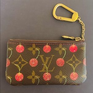 Louis Vuitton Murakami Monogram Cherry Key Pouch